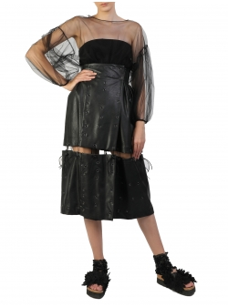 Adjustable Length Folded Skirt Silvia Serban