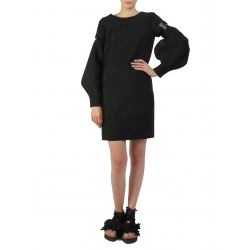Black Dress With Detachable Sleeves Silvia Serban