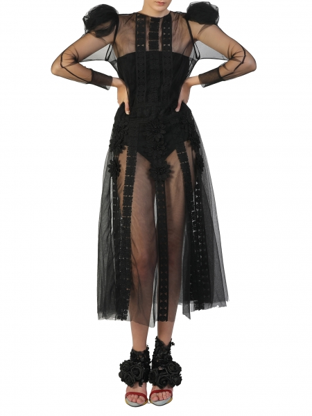 Black A-line Tulle Dress Silvia Serban