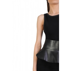 Black Midi Dress With Long Stiches ISSO