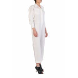 White Maxi Jumpsuit With Pockets ISSO