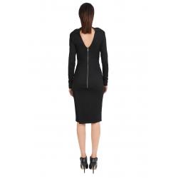 Slim Fit Midi Black Dress ISSO