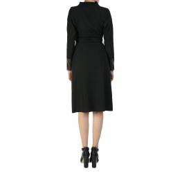 Black Dress With Metallic Zipper Larisa Dragna