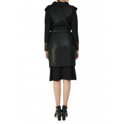 Black Wool Jacket With Oversized Collar Larisa Dragna