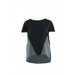 Black Top With Short Sleeves Larisa Dragna