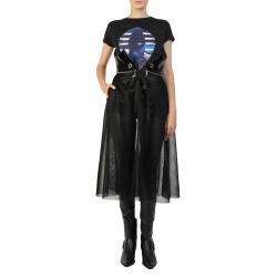 Black Mesh Skirt With Corset Larisa Dragna