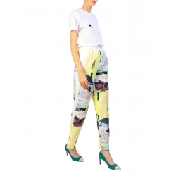 Yellow Pants With Digital Print My Simplicated