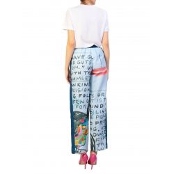 Blue Sport Pants With Digital Print My Simplicated