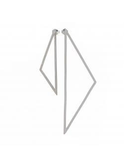 Cercei asimetrici triunghiuri Loop Atelier Jamais
