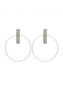 Cercei minimalisti Loop 4 Atelier Jamais