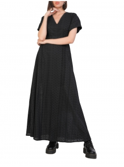 Black Maxi Dress With Waistbelt Komoda