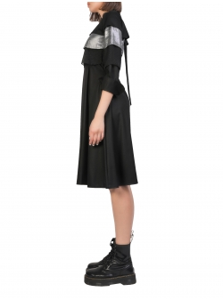 Black Dress With Silver Flounce Komoda