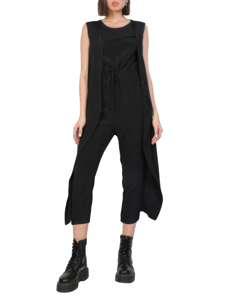 Black Sleeveless Jumpsuit Audrey Komoda