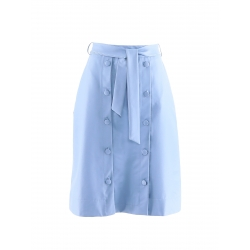 Light Blue Eco Leather Skirt Komoda