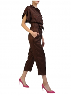 Midi Jumpsuit With Contrasting Buttons Komoda