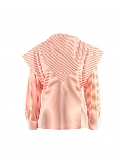 Stripped Cotton Blouse Colette Komoda