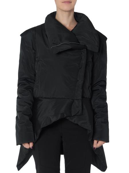 Asymmetric Black Slicker Jacket