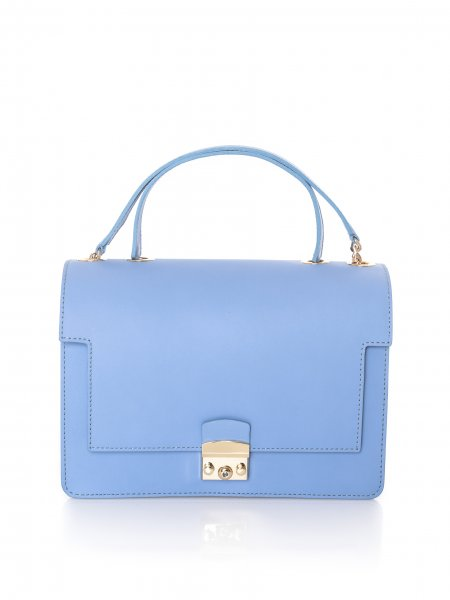 Baby Blue Leather Bag