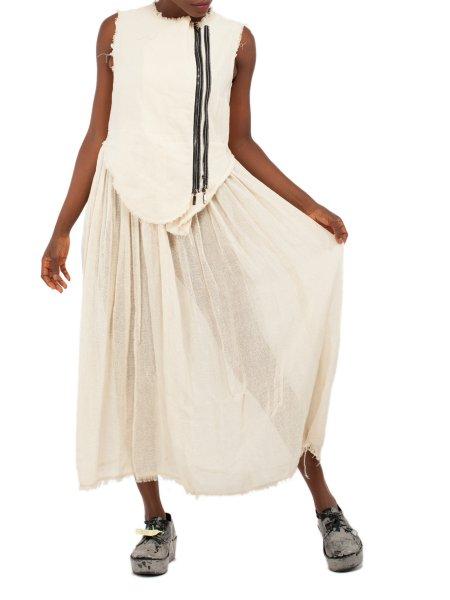 Beige Cotton Dress