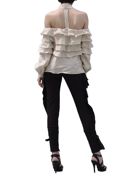 Beige Shirt WIth Ruffles