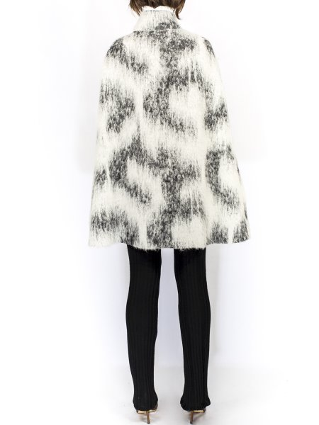 Black and White Wool Cape