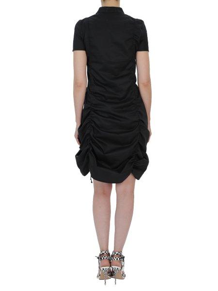 Black Cotton Dress With Laces