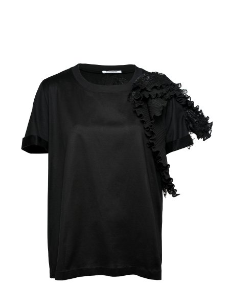 Black Cotton-Jersey T-shirt