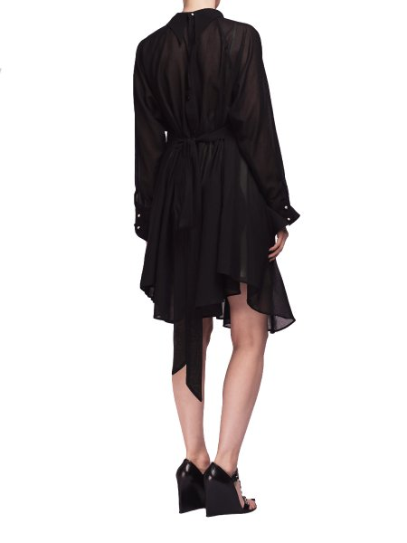 Black Cotton Shirt Dress
