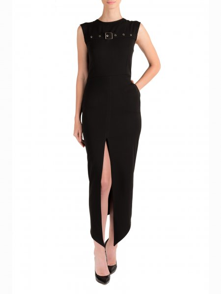 Black Dress with Front Split