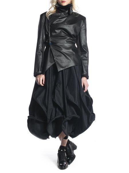 Black Geometrical Skirt