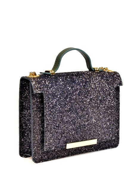 Black Glittered Handbag