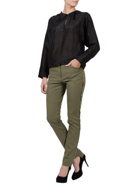 Black Hooded Silk Top