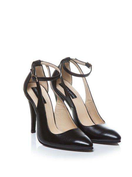 Black Leather High-Heels