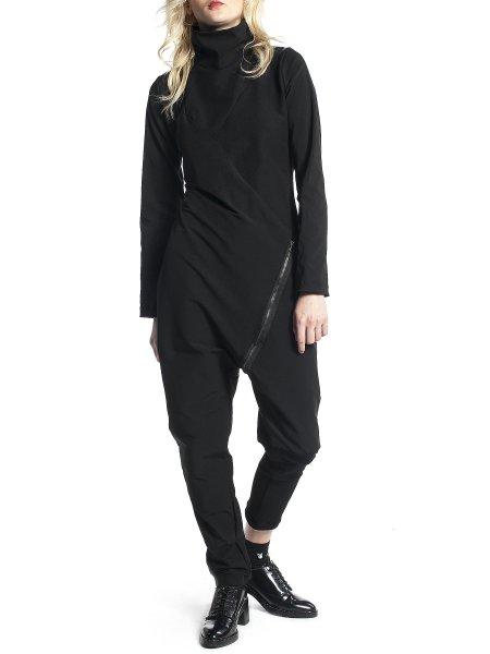Black Loose Fit Jumpsuit