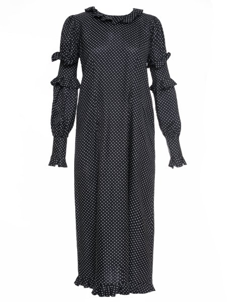Black Maxi Dress with Ruffles
