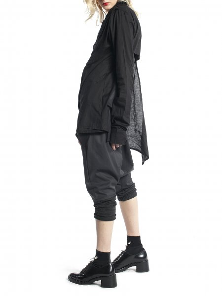 Black Shirt with Extra Long Sleeves
