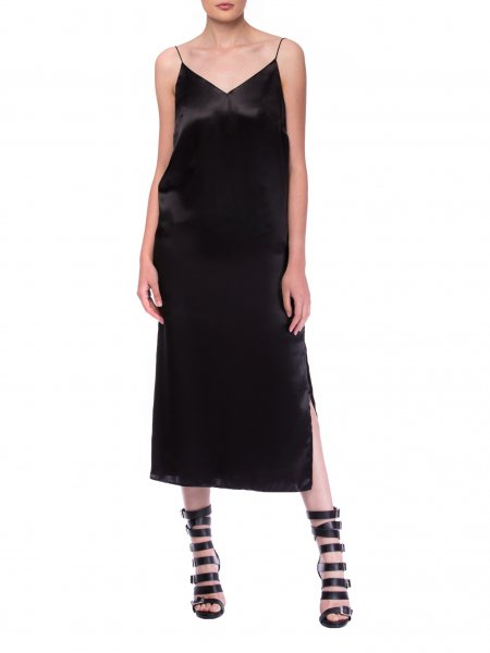 Black Silk Slipdress
