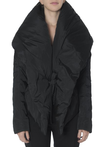 Black Slicker Jacket with Dropped Shoulders