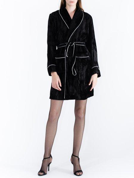 Black Velvet Robe