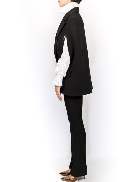 Black Woolen Cape