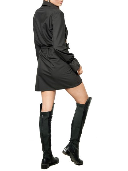 Black Wrap Mini Dress