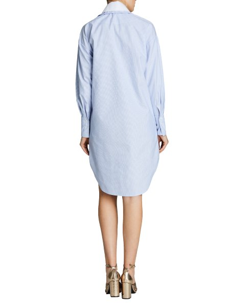 Blue Poplin Dress