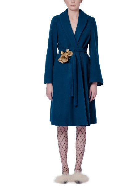 Blue Woolen Overcoat