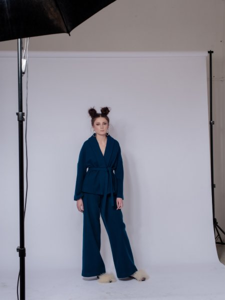 Blue Woolen Trousers