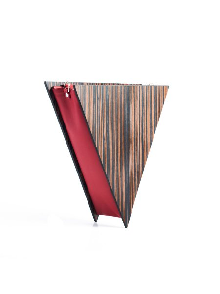 Brown Triangle Handcrafted Bag