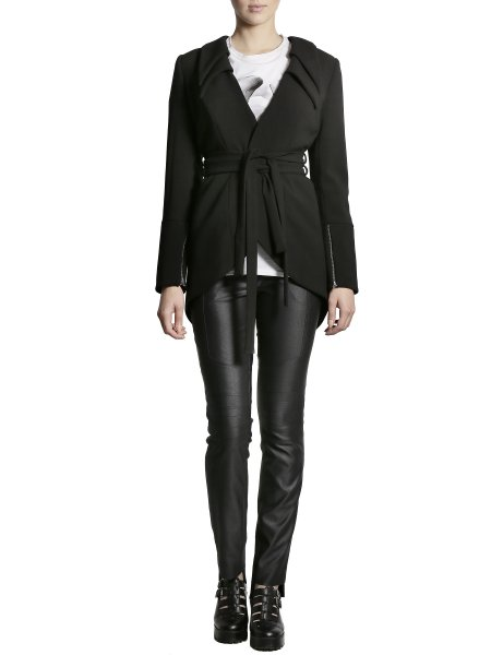 Cotton Jacket with Structured Shoulders