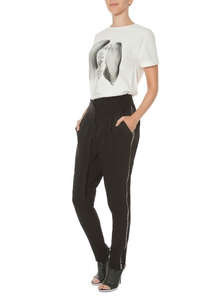 Cotton Trousers with Side Staples
