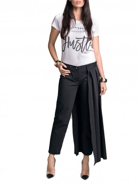 Cropped Skirt Pants