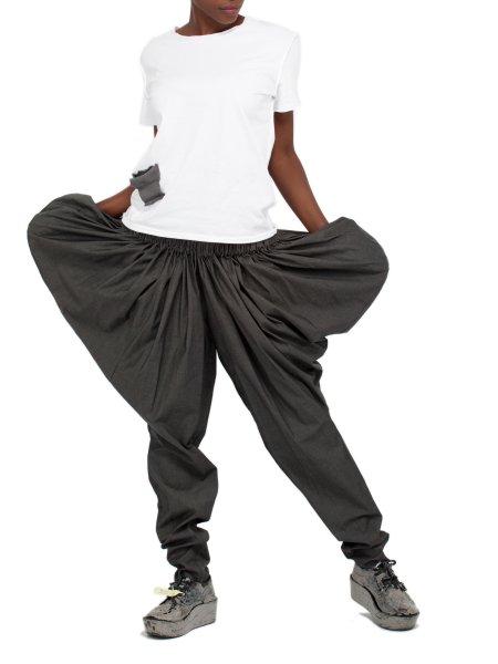 Dark Grey Cotton Pants