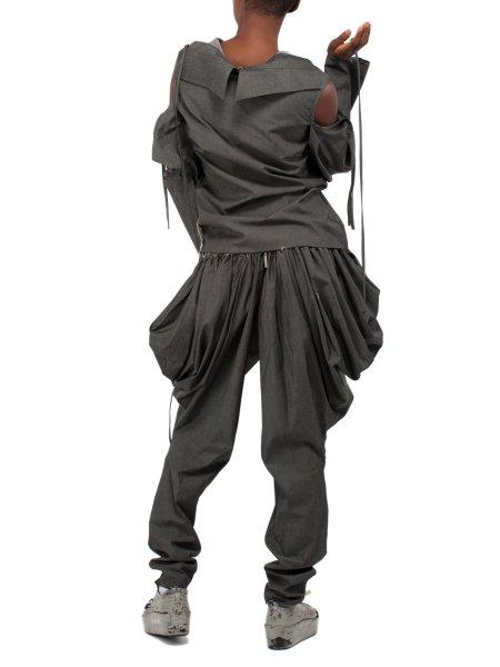 Dark Grey Cotton Shirt